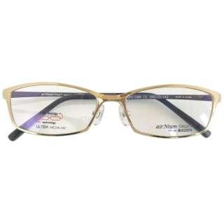 【度無しクリアレンズ】airNium-smart PREMIUM メガネセット(ゴールド×パールパープル)ASP2-1004-2[薄型/屈折率1.60/非球面/PCレンズ]