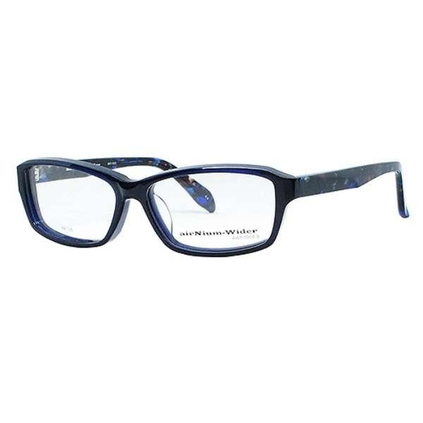 【度無しクリアレンズ】airNium-wider メガネセット(ネイビー)AW1-1002-3[薄型/屈折率1.60/非球面/PCレンズ]