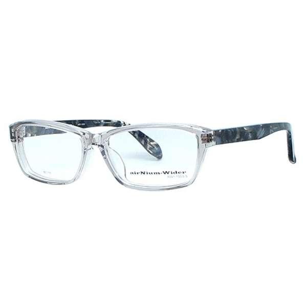 【度無しクリアレンズ】airNium-wider メガネセット(クリアスモーク)AW1-1003-3[薄型/屈折率1.60/非球面/PCレンズ]