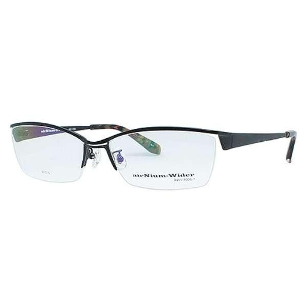 【度付き】airNium-wider メガネセット(ブラック)AW1-1006-1[薄型/屈折率1.60/非球面/PCレンズ]