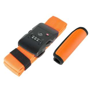 TSAロック付スーツケースベルト ハンドグリップ付 MBZ-MZ03/OR オレンジ