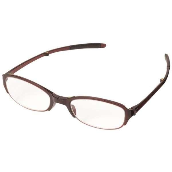 折りたたみ老眼鏡 シンプルビジョン コンパクト SV-401 WI(ワイン/+1.50)