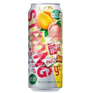 [数量限定] 氷結ストロング 白桃&黄桃 (500ml/24本)【缶チューハイ】