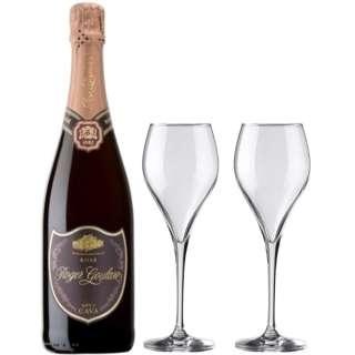 [ロジャーグラート特製グラス付] ロジャーグラート カバ ブリュット・ロゼ 2015 750ml【スパークリングワイン】