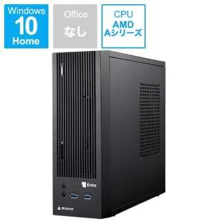 Enta デスクトップパソコン [モニター無 /AMD APU /HDD:1TB /SSD:120GB /メモリ:4GB /2018年12月モデル] ENTA-SA6M4S1H1-183 ブラック [モニター無し]