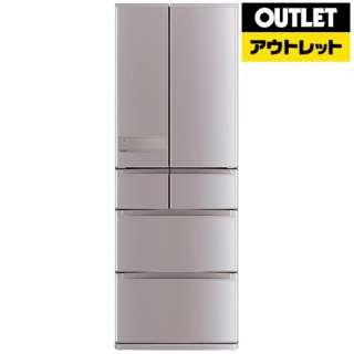 【アウトレット品】 冷蔵庫 置けるスマート大容量 JXシリーズ [6ドア /観音開きタイプ /517L] MR-JX52C-N  ローズゴールド 【生産完了品】