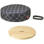 フライパン保温カバー(木製プレート付) KAC001GY