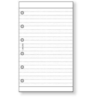 [リフィル] ラセ リフィル ポケット 横罫ノート (20枚) ARN204 W ホワイト