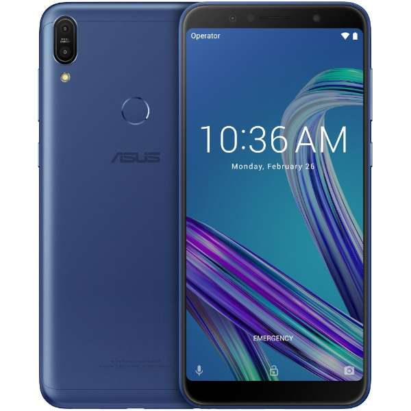 Zenfone Max Pro M1 スペースブルー「ZB602KL-BL32S3」Snapdragon 636 6型 メモリ/ストレージ:3GB/32GB nanoSIM x2 DSDV対応 ドコモ/au/YmobileSIM対応 SIMフリースマートフォン スペースブルー