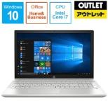 【アウトレット品】 15.6型ノートPC [Office付・Core i7・SSD 128GB・HDD 1TB・メモリ 8GB]  HP Pavilion 15-cu0000 4ME18PAAAAA モダンゴールド 【数量限定品】