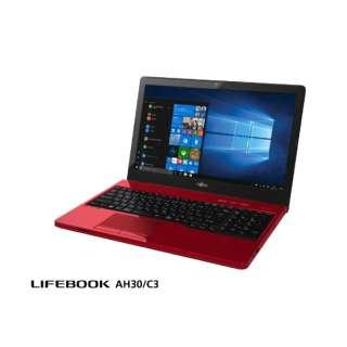 LIFEBOOK AH30/C3 FMVA30C3R6 ルビーレッド [15.6型 /AMD Eシリーズ /HDD:500GB /メモリ:4GB /2019年1月モデル]