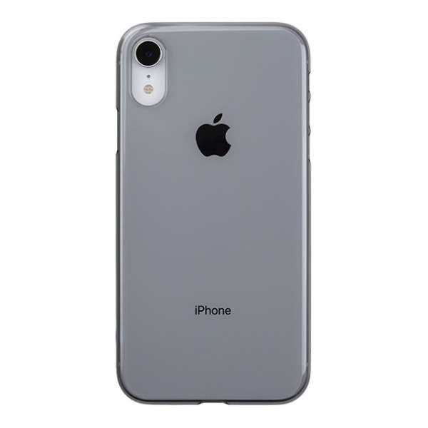Air jacket for iPhone XR クリアブラック PUK-73