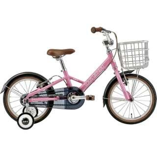 16型 子供用自転車 K16 plus 220mm(SMOKE PINK/シングルシフト) 【組立商品につき返品不可】