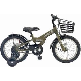 16型 幼児用自転車 JE-16G(オリーブ/シングルシフト) JE_16G【2019年モデル】 【組立商品につき返品不可】
