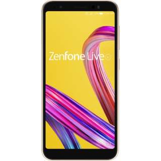 Zenfone Live L1 シマーゴールド「ZA550KL-GD32」 Snapdragon 430 5.5型ワイド メモリ/ストレージ:2GB/32GB nanoSIMx2 DSDS対応 ドコモ/au/ソフトバンク対応 SIMフリースマートフォン