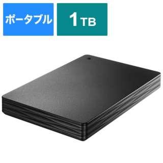 HDPH-UT1KR 外付けHDD ブラック [ポータブル型 /1TB]
