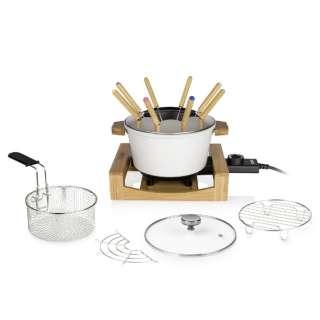 173030 卓上電気鍋 Table Fondue & Fry Pure(テーブルフォンデュアンドフライピュア) ホワイト