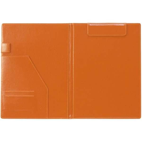[クリップファイル] ベルポスト (A4) BP-5724-68 表紙 ブラック・内側 オレンジ