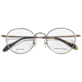 【度無しクリアレンズ】airNium-Classic メガネセット(ゴールド×ピンク)AC4-1007-1 [薄型/屈折率1.60/非球面/PCレンズ]