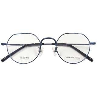 【度無しクリアレンズ】airNium-Classic メガネセット(ネイビー)AC4-1009-3 [薄型/屈折率1.60/非球面/PCレンズ]
