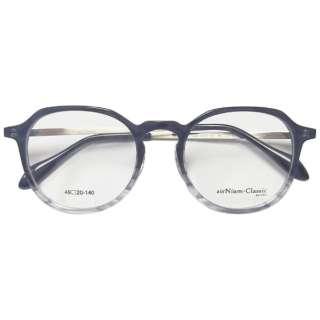 【度付き】airNium-Classic メガネセット(ブラックハーフ)AC4-1011-1 [薄型/屈折率1.60/非球面/PCレンズ]