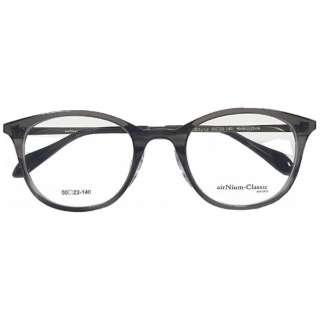 【度付き】airNium-Classic メガネセット(スモーキーグレー)AC4-1012-1 [薄型/屈折率1.60/非球面/PCレンズ]