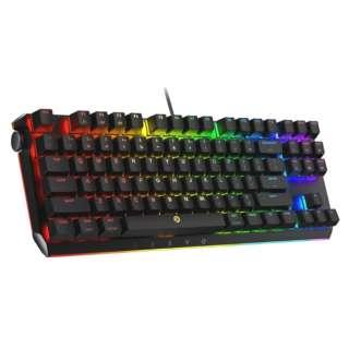 HEC-DRBMTE87K1USG2 ゲーミングキーボード 87K US Layout Wired Gateron Blue Switch 青軸 BladeMaster TE ブラック [USB /有線]