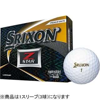 【スリーブ単位販売になります】ゴルフボール 2019 NEW SRIXON Z-STAR《1スリーブ(3球)/プレミアムホワイト/2019年モデル》 【オウンネーム非対応】