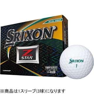 【スリーブ単位販売になります】ゴルフボール 2019 NEW SRIXON Z-STAR《1スリーブ(3球)/ロイヤルグリーン/2019年モデル》 【オウンネーム非対応】