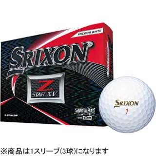 【スリーブ単位販売になります】ゴルフボール 2019 NEW SRIXON Z-STAR XV《1スリーブ(3球)/プレミアムホワイト/2019年モデル》 【オウンネーム非対応】