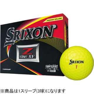ゴルフボール スリクソン Z-STAR XV プレミアムパッションイエロー SNZSXV6YEL3 [3球(1スリーブ) /スピン系] 【オウンネーム非対応】