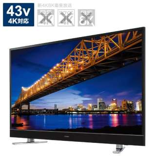 液晶テレビ TV-43UF30H [43V型 /4K対応]