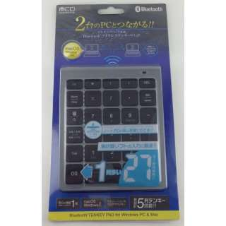 TENBT01/MG テンキー メタリックグレー [Bluetooth /ワイヤレス]