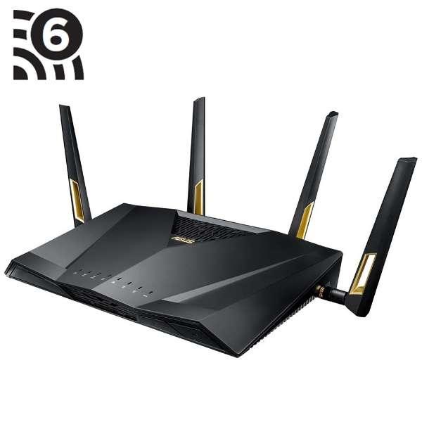 RT-AX88U wifiルーター WiFi 6 (802.11ax)  4804+1148Mbps ブラック [Wi-Fi 6(ax)/ac/n/a/g/b]