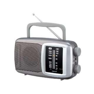 SAD-7227 ホームラジオ シルバー [AM/FM /ワイドFM対応]
