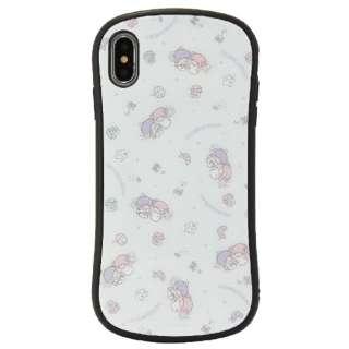 サンリオ iPhoneXs Max対応ハイブリッドガラスケース キキ&ララ