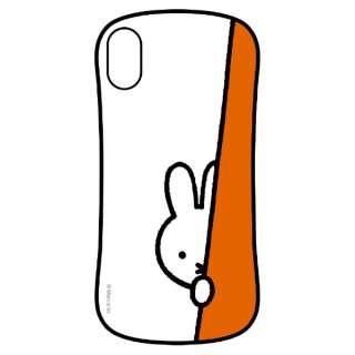 ミッフィー iPhoneXs Max対応ハイブリッドガラスケース のぞき見
