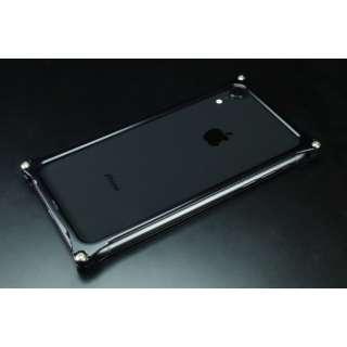 ソリッドバンパー for iPhoneXR ブラック GI-424B