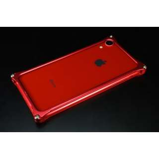 ソリッドバンパー for iPhoneXR レッド GI-424R