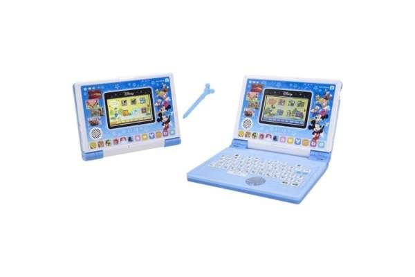 バンダイ「ディズニー&ディズニー/ピクサーキャラクターズ」パソコンとタブレットの2WAYで遊べる! ワンダフルドリームタッチパソコン