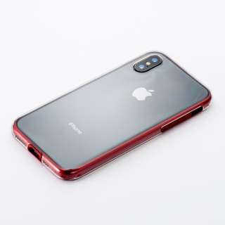 Air Jacket shockproof for iPhone XS レッド PUY-41