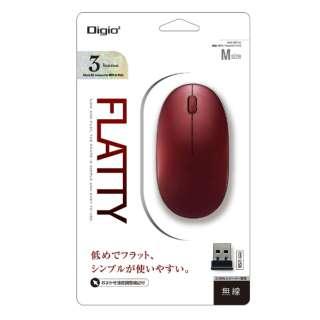 MUS-RKT153R マウス Digio2 レッド [BlueLED /3ボタン /USB /無線(ワイヤレス)]