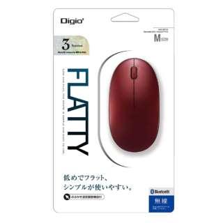 MUS-BKT154R マウス Digio2 レッド [BlueLED /3ボタン /Bluetooth /無線(ワイヤレス)]