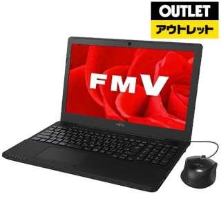 【アウトレット品】 15.6型ノートPC[ Win10 HOME・Celeron・HDD 1TB・メモリ 4GB・Office付き]  LIFEBOOK(ライフブック)  FMVA42B3B シャイニーブラック 【生産完了品】