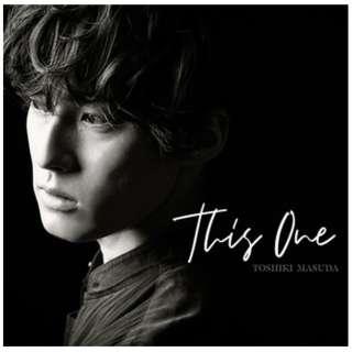 増田俊樹/ This One 初回限定盤 【CD】