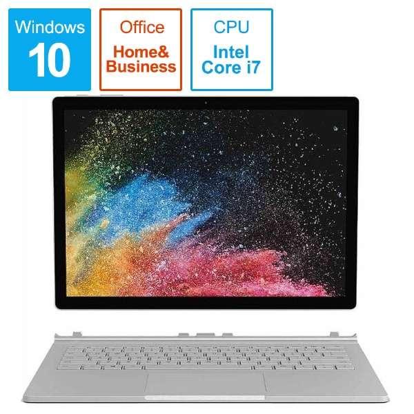 SurfaceBook2 [13.5型 /SSD 1TB /メモリ 16GB /Intel Core i7 /シルバー/2019年] HNN-00035 ノートパソコン サーフェスブック2