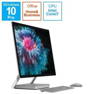 SurfaceStudio2 [28型 /SSD 1TB /メモリ 32GB /Intel Core i7 /プラチナ/2019年] LAK-00023 デスクトップパソコン サーフェススタジオ2