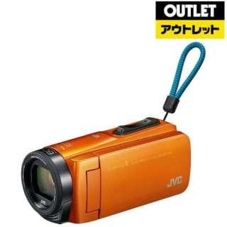 【アウトレット品】 ビデオカメラ EverioR(エブリオR) [フルハイビジョン対応 /防水+防塵+耐衝撃] GZ-RX670  サンライズオレンジ 【生産完了品】