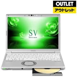 【アウトレット品】 12.1型ノートPC [ Win10 Home・Core i5・SSD 128GB・メモリ 8GB・Office付] レットノート CF-SV7HDFPR 【外装不良品】