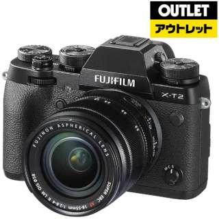 【アウトレット品】 X-T2-B ミラーレス一眼カメラ ブラック [ズームレンズ] 【外装不良品】